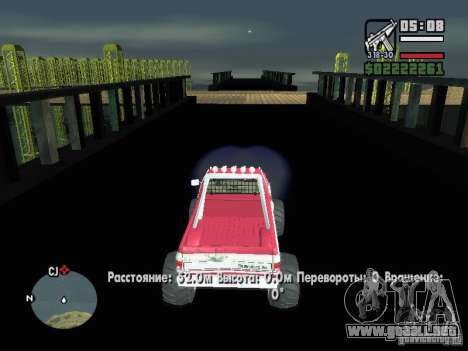 Monster tracks v1.0 para GTA San Andreas sucesivamente de pantalla