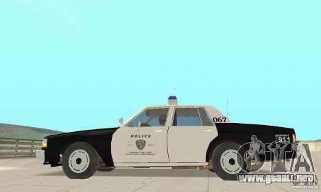 Chevrolet Caprice Interceptor 1986 Police para GTA San Andreas left