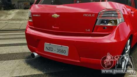 Chevrolet Agile para GTA 4 ruedas