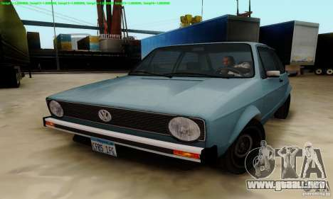 VolksWagen Golf LS para la visión correcta GTA San Andreas