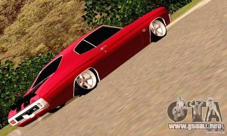 Chevrolet Chevelle 1970 para vista inferior GTA San Andreas