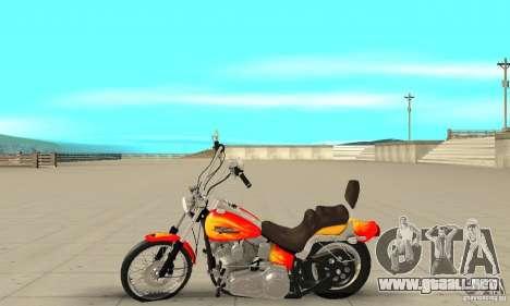 Harley Davidson softail Skin 2 para GTA San Andreas left