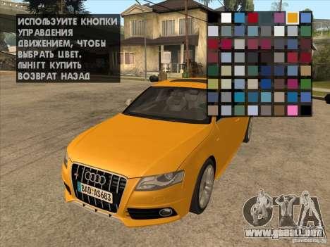 Clavijero en cualquier lugar para GTA San Andreas segunda pantalla