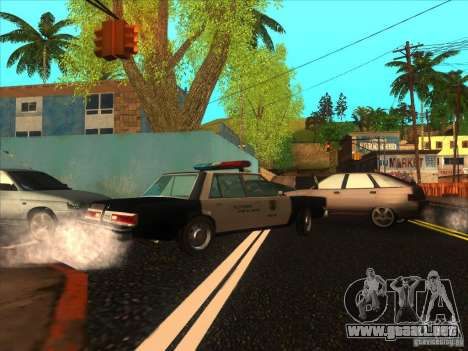 Dodge Diplomat 1985 LAPD Police para GTA San Andreas left
