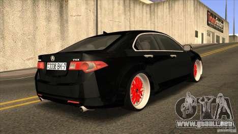 Acura TSX Doxy para la visión correcta GTA San Andreas