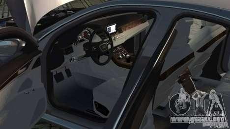 Audi A8 2010 V8 FSI para GTA 4 vista interior