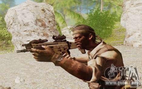 FN Scar L para GTA San Andreas tercera pantalla