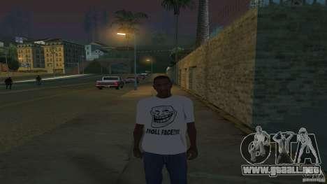la camiseta es una cara de Troll para GTA San Andreas