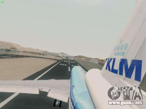 McDonell Douglas DC-10-30 KLM Royal Dutch para visión interna GTA San Andreas