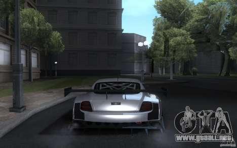 Bentley Continental Super Sport Tuning para GTA San Andreas vista hacia atrás