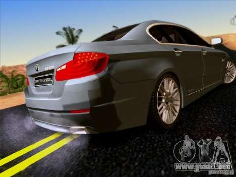 BMW 550i 2012 para GTA San Andreas vista hacia atrás