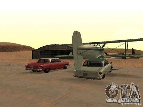 Auto-avión para GTA San Andreas vista posterior izquierda
