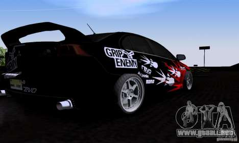 Mitsubishi Lancer Evolution X 2008 para GTA San Andreas vista hacia atrás