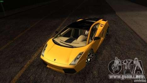 Lamborghini Gallardo SE para la vista superior GTA San Andreas