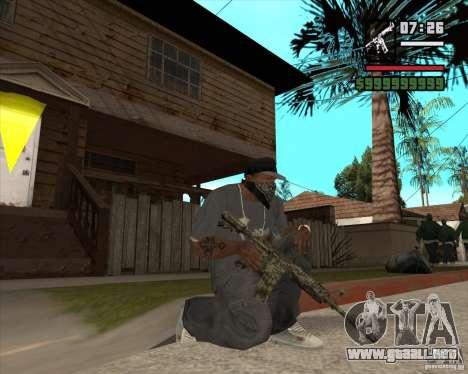 M4A1 Camo para GTA San Andreas tercera pantalla