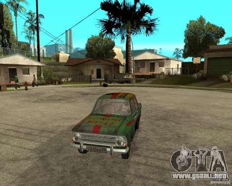 Bloodring Moskvich 412 para GTA San Andreas vista hacia atrás
