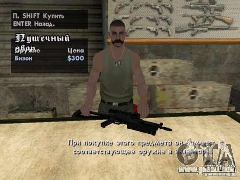 Armas Pak domésticos para GTA San Andreas quinta pantalla