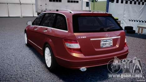 Mercedes-Benz C 280 T-Modell/Estate para GTA 4 Vista posterior izquierda