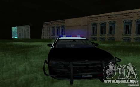 Dodge Charger Police para GTA San Andreas vista posterior izquierda