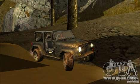 Jeep Wrangler para visión interna GTA San Andreas