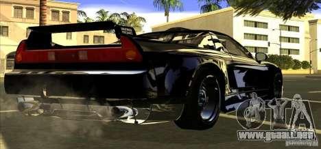 Acura NSX Tuned para GTA San Andreas vista hacia atrás