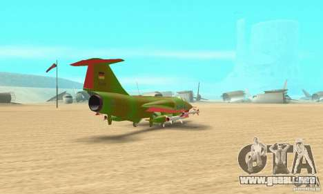 F-104 Starfighter Super (verde) para GTA San Andreas left