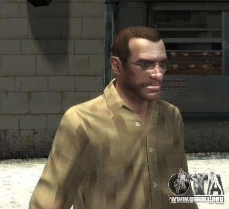 Nuevas gafas para Niko-brillante para GTA 4 tercera pantalla
