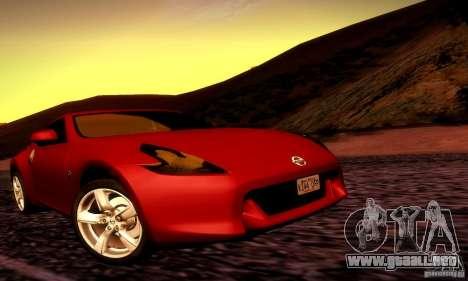 Nissan 370Z V2 para la visión correcta GTA San Andreas