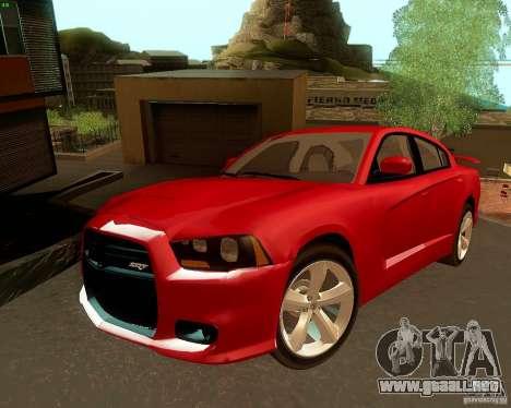Dodge Charger SRT8 2012 para la vista superior GTA San Andreas