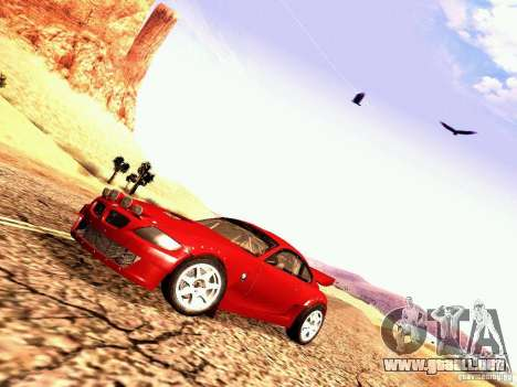 BMW Z4 Rally Cross para GTA San Andreas vista posterior izquierda