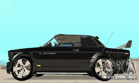 Tunning 2106 VAZ Fantasy ART para GTA San Andreas vista posterior izquierda