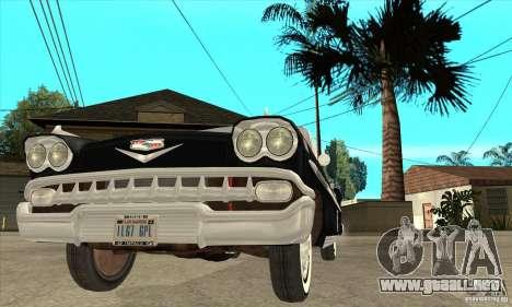 Chevrolet Impala 1958 para la vista superior GTA San Andreas
