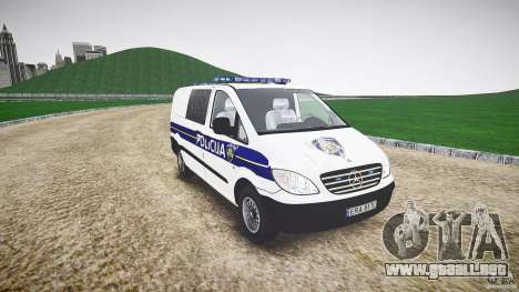 Mercedes Benz Viano Croatian police [ELS] para GTA 4 vista hacia atrás