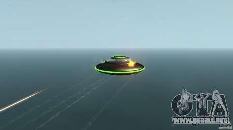 UFO neon ufo green para GTA 4 vista hacia atrás