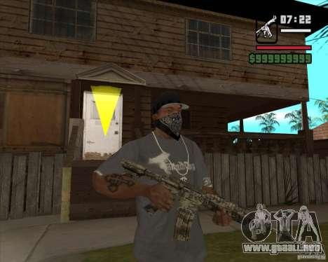 M4A1 Camo para GTA San Andreas segunda pantalla