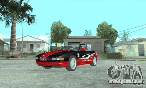 BMW 850i para GTA San Andreas vista posterior izquierda