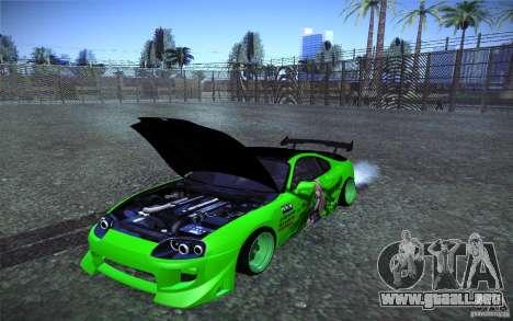 Toyota Supra Tuned para vista lateral GTA San Andreas