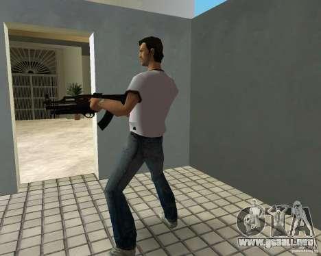 AK-47 con escopeta Underbarrel para GTA Vice City sucesivamente de pantalla