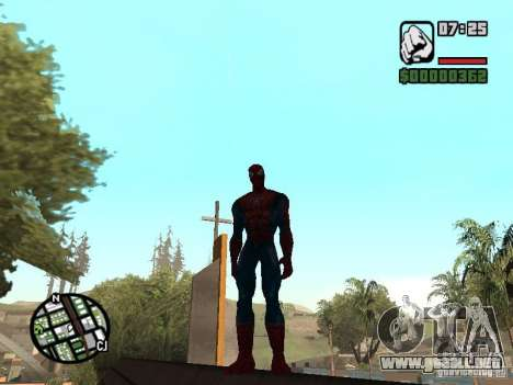 Spider Man From Movie para GTA San Andreas quinta pantalla