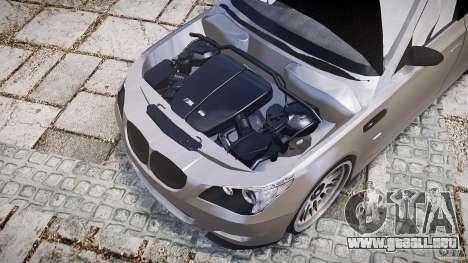 BMW E60 M5 2006 para GTA 4 vista hacia atrás