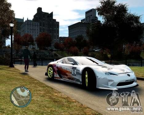Lexus LFA Speedhunters Edition para GTA 4 vista hacia atrás