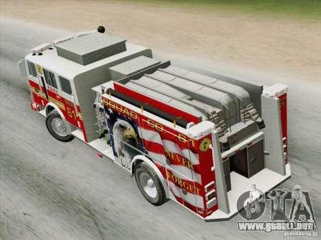 Seagrave Marauder. F.D.N.Y. Squad 61. para GTA San Andreas vista hacia atrás