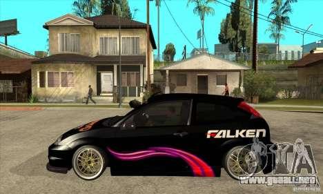 Ford Focus SVT para GTA San Andreas left