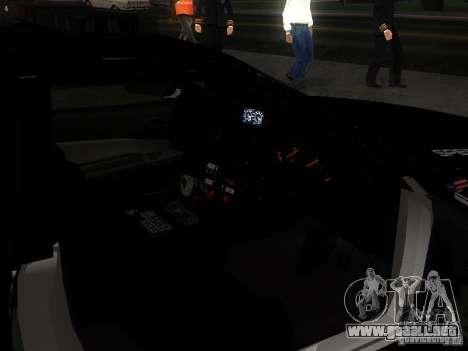 Nissan Skyline R34 Police para la vista superior GTA San Andreas