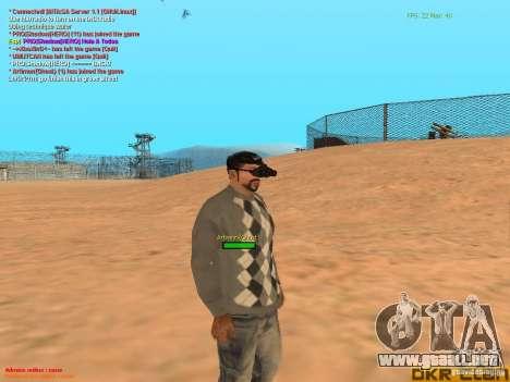 NV Goggles para GTA San Andreas quinta pantalla