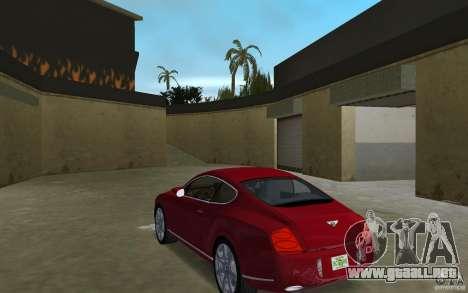 Bentley Continental GT (Final) para GTA Vice City vista lateral izquierdo