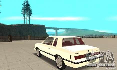 Dodge Aries 1983 para GTA San Andreas vista posterior izquierda