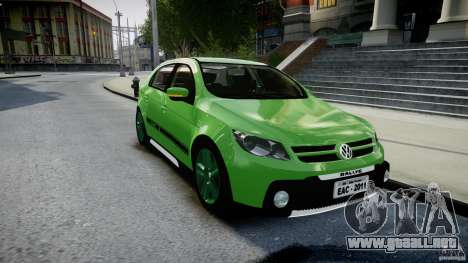 Volkswagen Gol Rallye 2012 v2.0 para GTA 4 vista hacia atrás