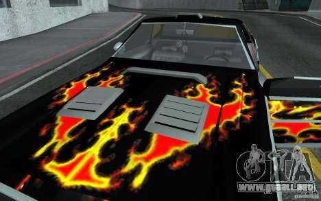 Chevrolet El Camino 1976 para visión interna GTA San Andreas