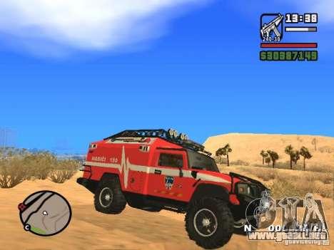 HZS Hummer H2 para GTA San Andreas left